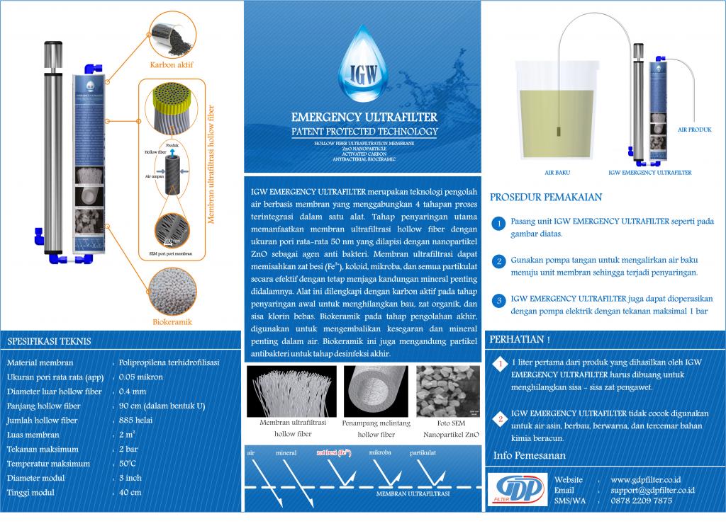 IBrosur GW Emergency Ultrafiltrasi